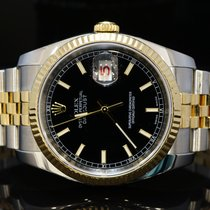 Rolex 2008 36mm Datejust, Steel & Gold, MINT, 116233, Boxed