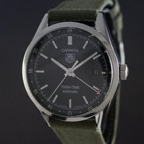 TAG Heuer Carrera Calibre 7 Twin-Time Steel Case FULL SET