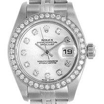 Rolex Diamond Rolex Ladies Datejust Steel & White Gold...
