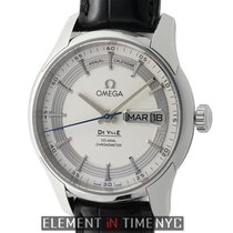 Omega De Ville Hour Vision Annual Calendar Steel 41mm Silver Dial