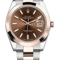 Rolex Datejust Chocolate Index Rose Gold/ Stainless Steel