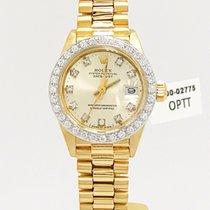 Rolex Ladies 18k Yellow Gold Datejust On President Bracelet...