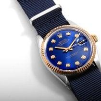 ロレックス (Rolex) 18K/SS DATEJUST Royal Blue Diamond Dial NATO...