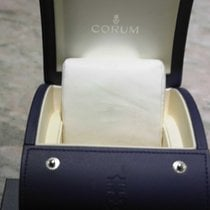 Corum vintage watch box blu leather very nice condition