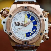 Hublot King Power Oceanographic 1000 Gold White Dial LTD.