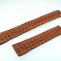 Breitling Band 19mm Croco Brown Marron Strap Ib19-19