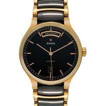 Rado Centrix Automatic Day/Date Ceramic/Gold Tone Men's Watch...