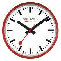 Mondaine A995.CLOCK.11SBC Wanduhr rot 40 cm