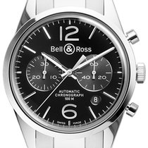 伯莱士 (Bell & Ross) BR 126 Vintage BRV 126 Officer Black...