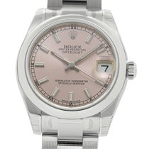 Rolex Datejust Stainless Steel 31mm Pink Index Dial