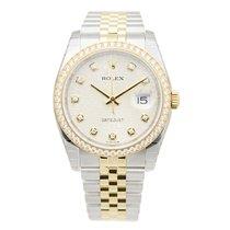 Rolex Datejust Gold Steel Diamond Silver Automatic 116243JSV_J