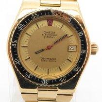 Omega Seamaster Electronic F300hz Chronometer 18k Yellow Gold...