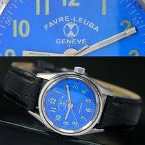 Favre-Leuba Geneve Sea King Winding Steel Unisex Watch Blue