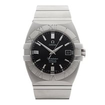 Omega Constellation Double Eagle Stainless Steel Gents...