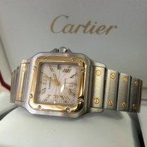 Cartier Santos Galbee Gold Steel Guilloche Roman Dial (40 x 30...