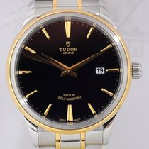 Tudor Style Date Stahl/Gold black dial Full-Set Klassiker 41mm