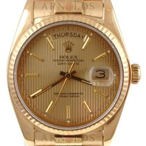 Rolex 1982 18kt Yellow Day-Date (President) Champagne Tapestry...