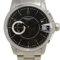 Hamilton Time Clasic Railroad Stainless Steel Black Automatic...