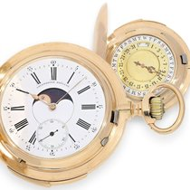 Pocket watch: extremely heavy, very rare, double-sided...