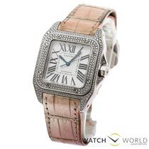 Cartier santos 100 white gold 18ct factory diamonds