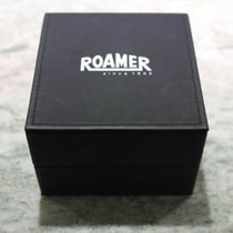 Roamer vintage watch box leather black white logo