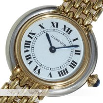 Cartier Damenuhr Stahl / Gold Quarz