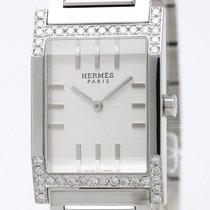 Hermès Tandem Custom Diamond Steel Quartz Mens Watch Ta1.710 ...