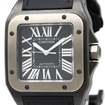 Cartier Santos 100 Titanium Automatic Mens Watch W2020010...