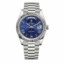 Rolex Day-date Blu Roman 18k White Gold 40mm  - 228239