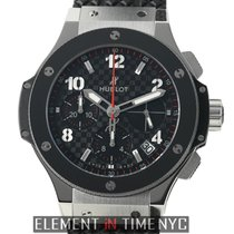 Hublot Big Bang Stainless Steel 41mm Chronograph Carbon Fiber...