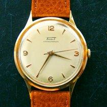 Tissot 37mm Gelb Gold 14K 585 Vintage Herren Armbanduhr 1950