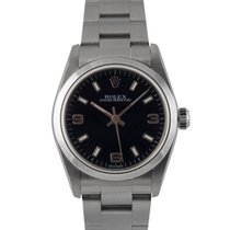Rolex Mid Size Oyster Perpetual Black Dial, Ref: 77080, With...
