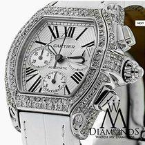 Cartier Diamond Cartier Roadster Xl W62019x6 Watch White Dial...