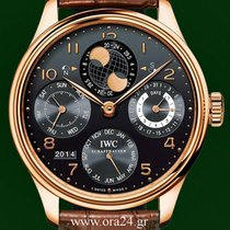 IWC Portuguese Perpetual Calendar Hemisphere Moon Rose Gold...