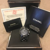 Σανέλ (Chanel) J12 Chrono Black Ceramic