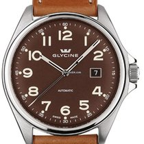 Glycine Combat 6 43 mm Brown Leather strap
