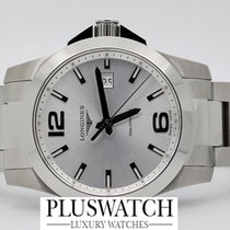 Longines Conquest Silver Grigio Quartz 41 mm  Quarzo