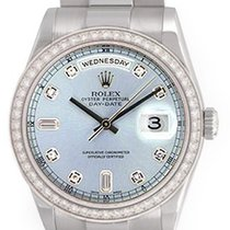 Rolex President Day-Date Platinum Glacier Diamond Men's...