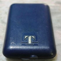Tissot vintage pocket watch box plastic blù rare