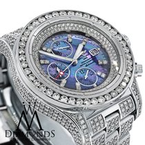 Breitling Super Avenger A13370 Mother Of Pearl Dial Diamond...