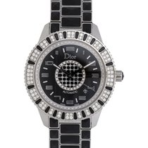 Dior Christal Stainless Steel Diamond Automatic Ladies Watch –...