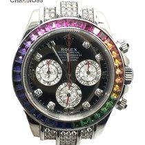 롤렉스 (Rolex) Cosmograph Daytona 116519 Baguette Rainbow Diamonds