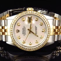 Rolex Datejust 2 Tone 36MM 18k Stainless Steel White MOP...