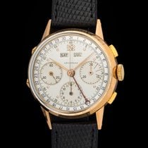 Leonidas Vintage chrono Triple Date Dato-compax 18kt pink gold