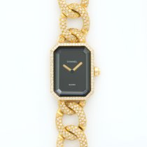 Chanel Yellow Gold Premier Full Pave Diamond Bracelet Watch