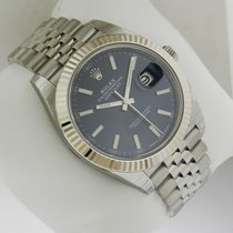 Rolex Oyster DATEJUST 41mm Stainless Steel 126334 Blue Dial...