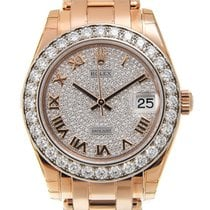 勞力士 (Rolex) Lady Datejust 18 K Rose Gold With Diamonds Silver...