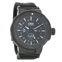 Oris Force Recon GMT Mens Automatic Titanium Watch 74777157754FS