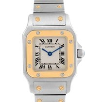 Cartier Santos Galbee Ladies Steel Yellow Gold Quartz Watch...