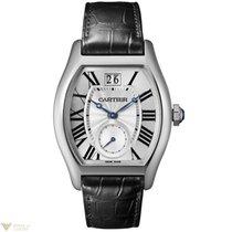 Cartier Tortue Grande Date 18K White Gold Men's Watch